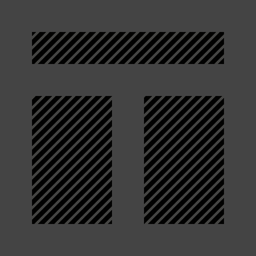 customization, grid, header, layout icon