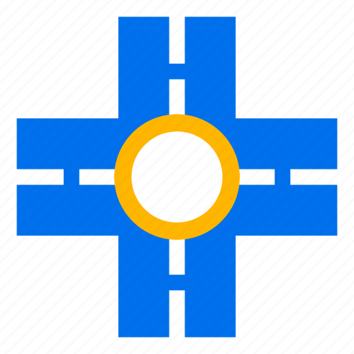 cross, crossing, crossroads, direction, road, sign, street icon