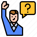 confidence, leadership, ask, question icon
