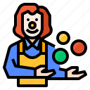 clown, funny, humor, joke icon