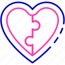 compassionate, heart, investment icon, management, puzzle icon