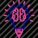 brain, brainstorm, creativity, knowledge icon, productivity icon