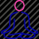 meditation, personal discipline, punctuality, relaxation, self awareness, yoga icon icon