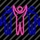 group, leadership, leadership behavior, manager icon, team icon