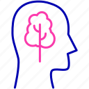 clear mind, expand, expand your mind, growth, head, mind, thinking icon icon