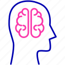artificial, brain, intelligence, mind icon icon