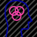 balance, cognitive, flexible, head, human, mind, thinking icon icon