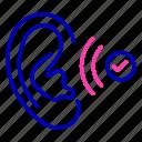 effective, listen, listener, listening, otology icon icon