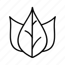nature, outline, leaf, plant, environment icon