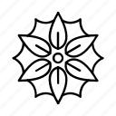 nature, outline, leaf, flower, plant icon