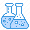 flask, chemistry, laboratory, science, education
