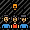 brainstorm, idea, learning, light, bulb, student