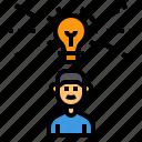idea, light, bulb, creativity, intelligence, student