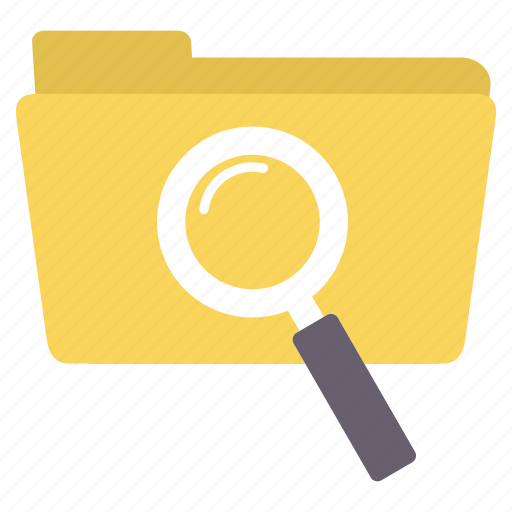 document, folder, glass, magnifier, magnifying, search, zoom icon