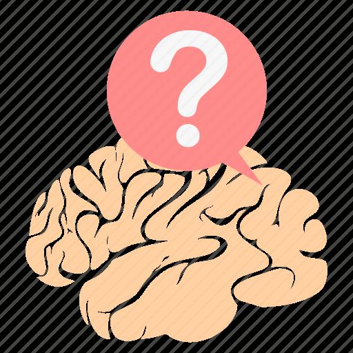 brain, faq, help, human, question, think, thinking icon