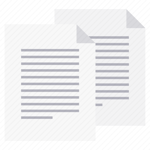 copied, document, duplicate, page, paper, sheet, text icon