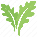 foliage, leafy design, oak, toothed leaves, two oak leaves icon