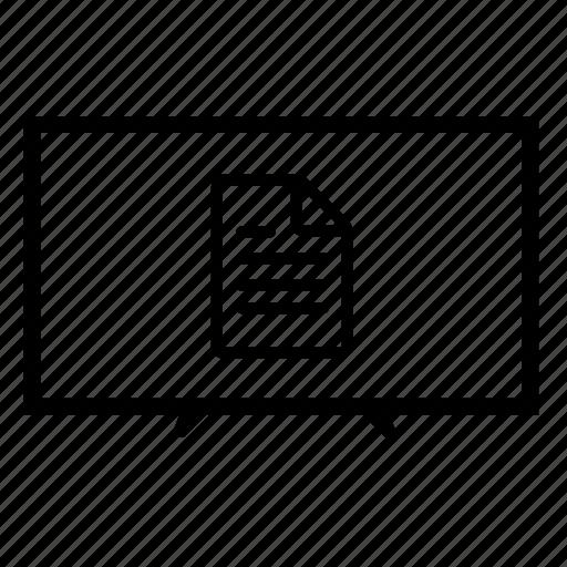 file, led tv, television, tv, tv doc, tv monitor, tv screen icon