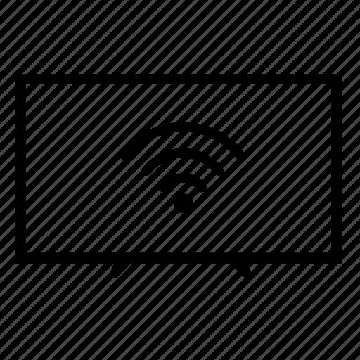 led tv, led tv connected wifi, led tv wifi, television, tv, tv wifi, wifi icon