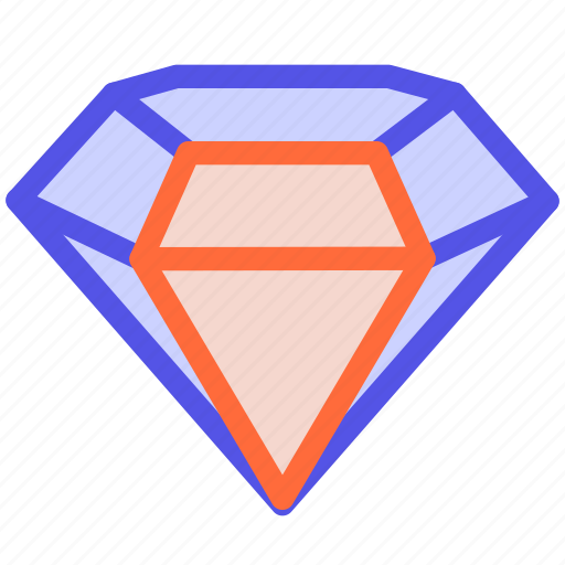 brilliant, diamond, favorite, luxury, sketch icon