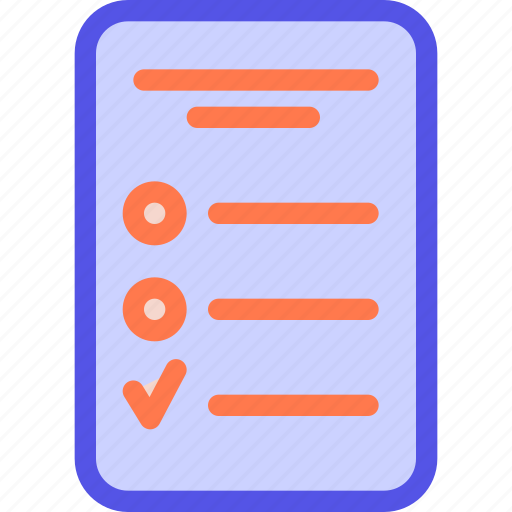 checklist, list, tablet, task, to-do list icon