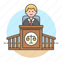 legal, magistrate, podium, courtroom, courthouse, case, male, judge, trial