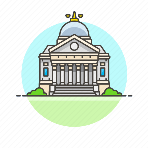 building, court, government, institution, law, legal, state icon