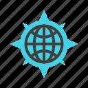 direction, globe, gps, location, map, navigation icon