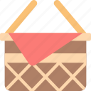 basket, leisure, picnic icon