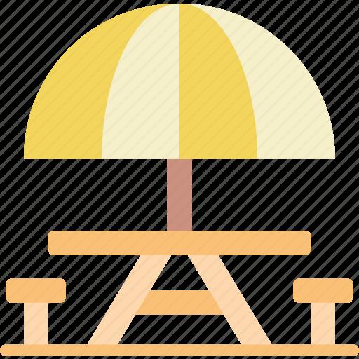 leisure, park, picnic, table icon