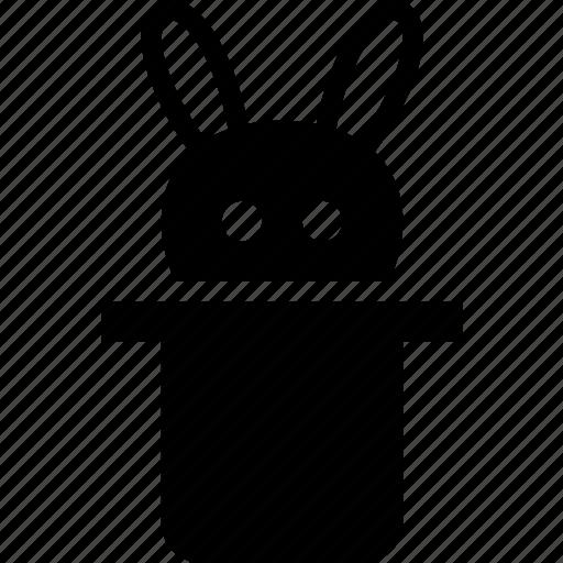 hat, magic, magician, rabbit icon