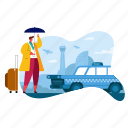 travel, waiting, taxi, car, transport, transportation, man