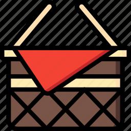 basket, leisure, picnic icon