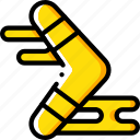 boomarang, hobby, leisure icon