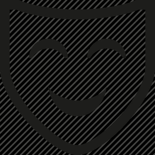 happy, mask icon