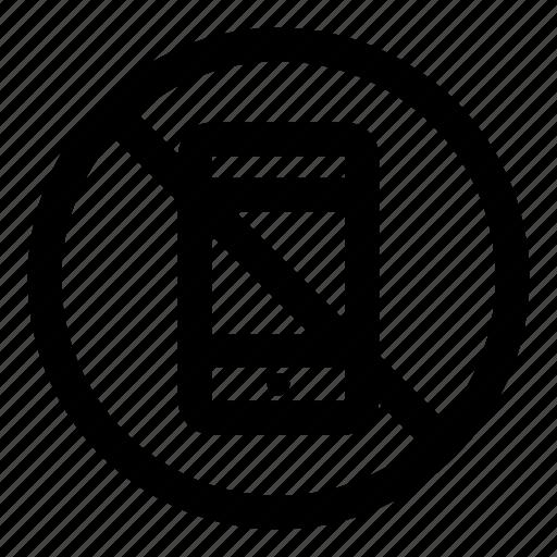 cellular, device, mobile, no, prohibited icon