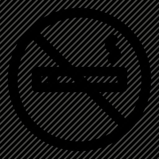 cancer, lung, no, smoking, tobacco icon