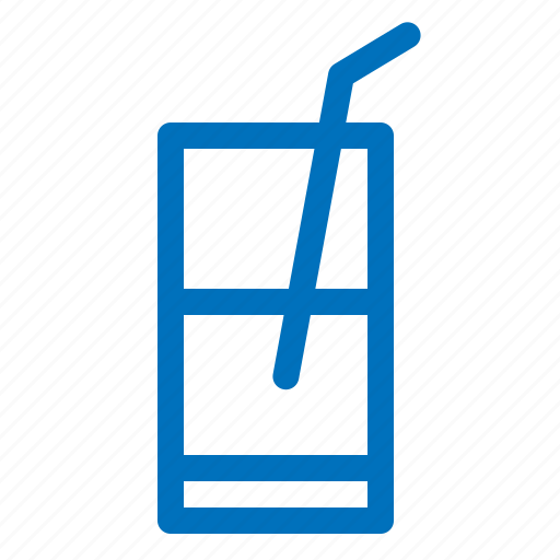 alcohol, drink, glass, juice, straw, water icon