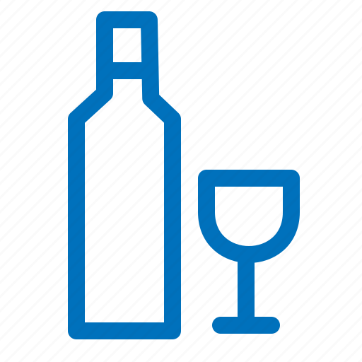alcohol, bottle, drink, drinking, glass, vodka icon