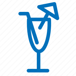 alcohol, cocktail, drink, glass, party, straw, umbrella icon