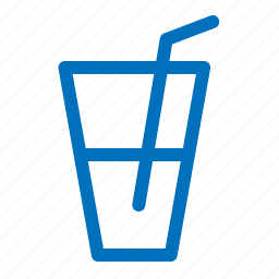alcohol, drink, glass, straw, water icon