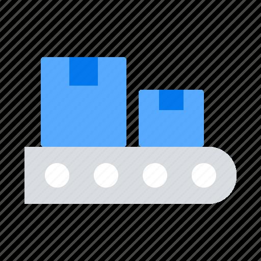 belt, conveyer, package icon