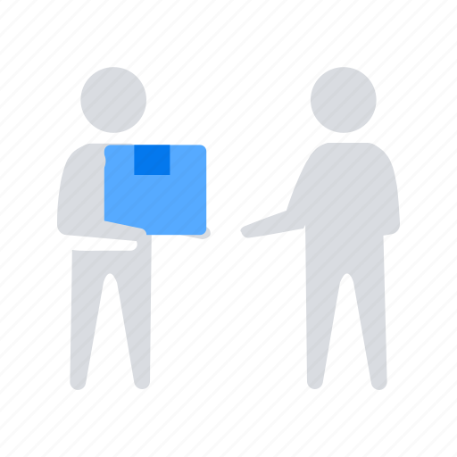 Box, delivery, hand icon - Download on Iconfinder