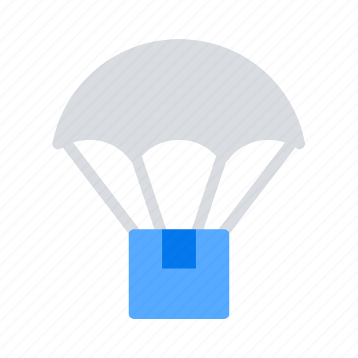 air, delivery, parachute icon