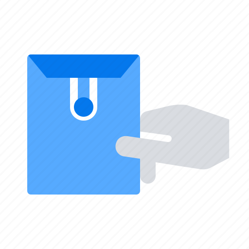 Delivery, envelope, hand icon - Download on Iconfinder