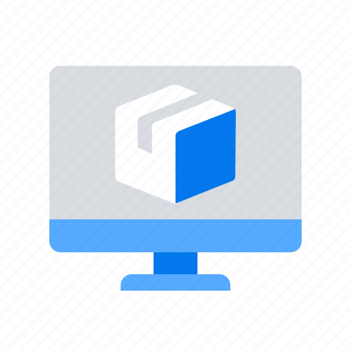 monitor, package, parcel icon