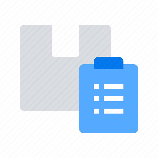 list, order, package icon