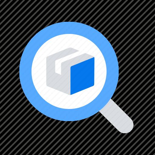 parcel, search, track icon