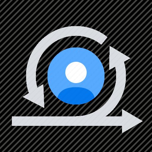 agile, manager, scrum, sprint icon