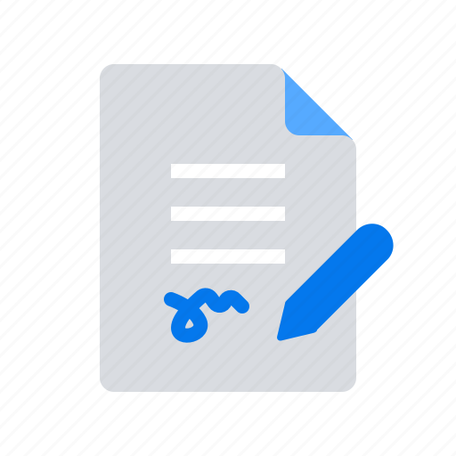 agreement, pen, sign icon